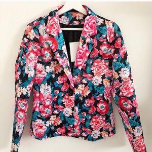 Jackets & Blazers - 🎁 Floral flower blazer small medium